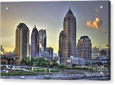 Midtown Atlanta Sunrise Acrylic Print by Reid Callaway