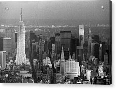 Midtown Manhattan 1980s Acrylic Print by Gary Eason