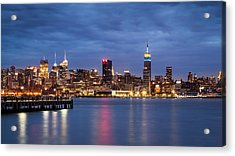 Acrylic Print featuring the photograph Midtown Manhattan by Mihai Andritoiu