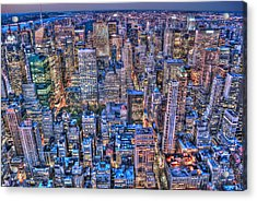 Midtown Manhattan Skyline Acrylic Print by Randy Aveille