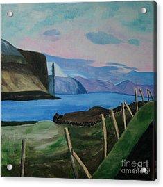 Acrylic Print featuring the painting Midvogur Vaagoe by Susanne Baumann
