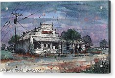 Acrylic Print featuring the mixed media Midway Texas Grocery by Tim Oliver