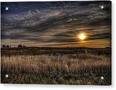 Midwest Sunrise Acrylic Print by Jeff Burton