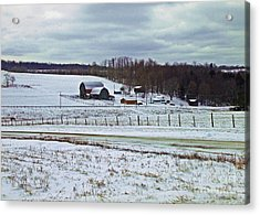 Midwinter On The Farm Acrylic Print by Christian Mattison