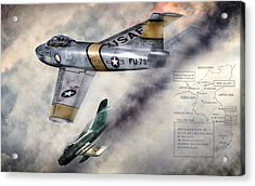 Mig Alley Acrylic Print by Peter Chilelli
