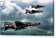 Mig Killers Acrylic Print by Peter Chilelli