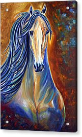 Acrylic Print featuring the painting Mighty Mare Horse by Jennifer Godshalk