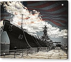 Mighty Mo U.s.s. Missouri Acrylic Print