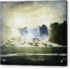Mighty Niagara Acrylic Print by Lianne Schneider