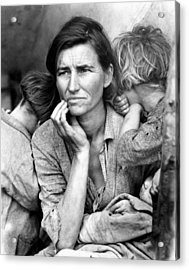 Migrant Mother, 1936 Acrylic Print by Granger