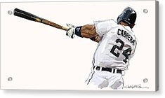 Miguel Cabrera Mash Acrylic Print by Chris Ross