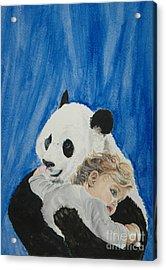 Mika And Panda Acrylic Print