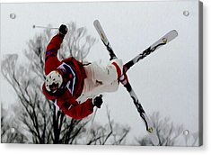 Mikael Kingsbury Skiing Acrylic Print by Lanjee Chee