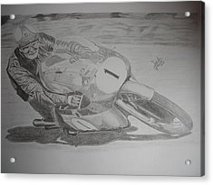 Mike Hailwood Acrylic Print by Jose Mendez