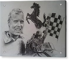 Mike Hawthorn Acrylic Print by Chris Lambert