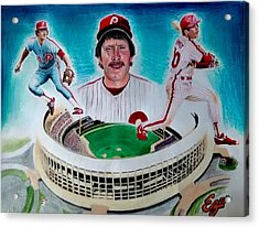 Mike Schmidt Acrylic Print by Ezra Strayer