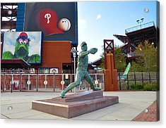 Steve Carlton Statue - Phillies Citizens Bank Park Acrylic Print by Bill Cannon