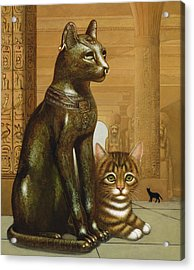 Mike The British Museum Kitten Acrylic Print by Frances Broomfield