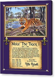 Mike The Tiger I Acrylic Print