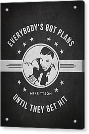 Mike Tyson - Dark Acrylic Print by Aged Pixel