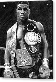 Mike Tyson Pencil Drawing Acrylic Print