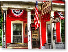 Mike's Barber Shop Acrylic Print