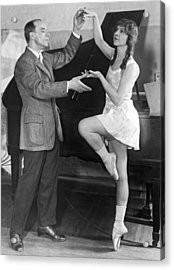 Mikhail Mordkin And Student Acrylic Print by Underwood Archives