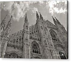 Milan Duomo Acrylic Print by Ramona Matei