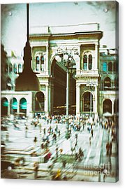 Acrylic Print featuring the photograph Milan Gallery by Silvia Ganora