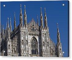 Milano Dome Detail Acrylic Print by Ioan Panaite