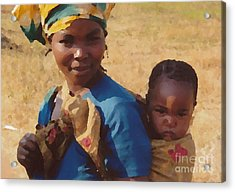 Milawi Mother And Child Acrylic Print by Joyce Gebauer