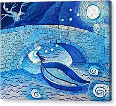Mild Night Winds Blowing A Wish Under A Bridge Acrylic Print