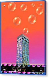 Mildrena's Chimney - Bubbles Acrylic Print by Wendy J St Christopher