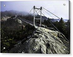 Mile High Bridge-grandfather Mountain Acrylic Print
