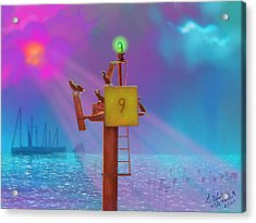 Mile Marker 9 Acrylic Print by Gerry Robins