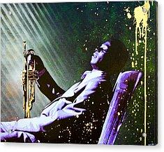 Miles Davis Acrylic Print by Bobby Zeik