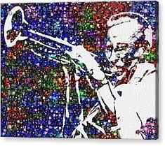 Miles Davis Acrylic Print by Jack Zulli