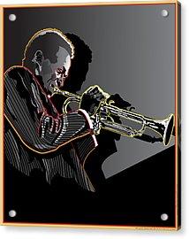 Miles Davis Legendary Jazz Musician Acrylic Print by Larry Butterworth