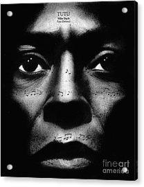Miles Davis Tutu Acrylic Print by Michael Cross
