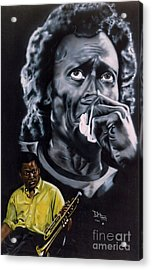 Acrylic Print featuring the painting More Miles Of Davis by Thomas J Herring