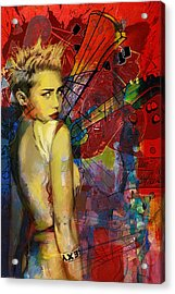 Miley Cyrus Acrylic Print by Corporate Art Task Force