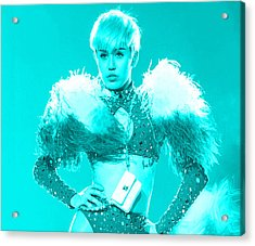 Miley Cyrus Do My Thang Acrylic Print by Brian Reaves