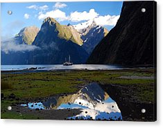 Acrylic Print featuring the photograph Milford Sound by Cascade Colors