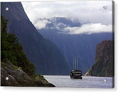 Acrylic Print featuring the photograph Milford Sound by Stuart Litoff