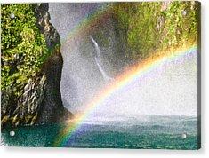 Milford Sound Acrylic Print by Tom Gowanlock