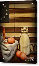 Milk And Eggs Acrylic Print by Paul Ward