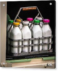 Milk Bottles Acrylic Print
