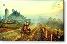 Milk Delivery Acrylic Print by Tom Schmidt