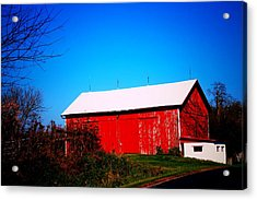 Milk House And Barn Acrylic Print