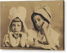 Milkmaid Sisters Acrylic Print by Paul Ashby Antique Image